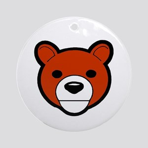 Friendly Bear Ornament (Round)