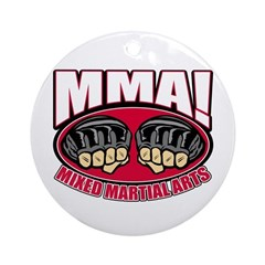 MMA Mixed Martial Arts Ornament (Round)