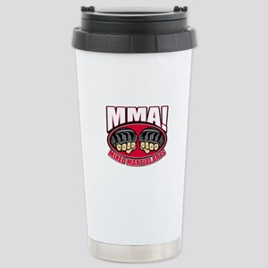 MMA Mixed Martial Arts Stainless Steel Travel Mug