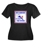 HERE COME THE FREE STUFF Women's Plus Size Scoop N