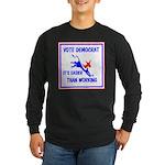 HERE COME THE FREE STUFF Long Sleeve Dark T-Shirt