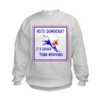 HERE COME THE FREE STUFF Kids Sweatshirt