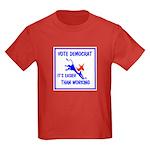 HERE COME THE FREE STUFF Kids Dark T-Shirt