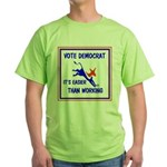 HERE COME THE FREE STUFF Green T-Shirt