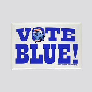 Vote Blue Dem Dog Rectangle Magnet