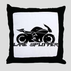 Lane Splitter Throw Pillow