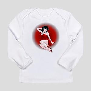 Pin Up Girl Gifts Retro Tattoo Long Sleeve T-Shirt