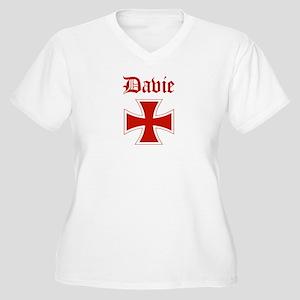 Davie (iron cross) Women's Plus Size V-Neck T-Shir