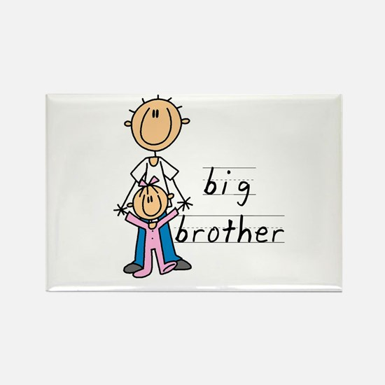Big Brother With Little Sister Rectangle Magnet