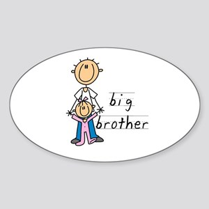 Big Brother With Little Sister Sticker (Oval)