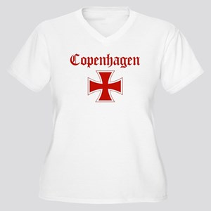 Copenhagen (iron cross) Women's Plus Size V-Neck T