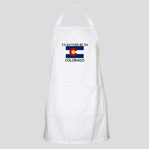 I'd rather be in Colorado BBQ Apron