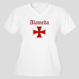 Alameda (iron cross) Women's Plus Size V-Neck T-Sh