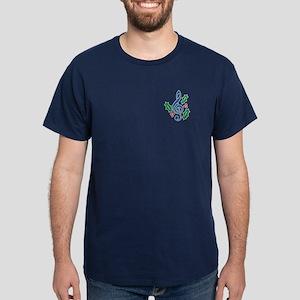Treble Clef Holly Dark T-Shirt