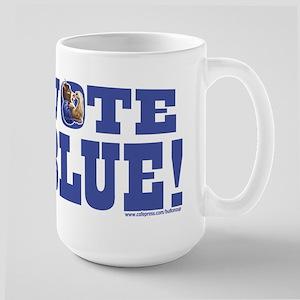 Vote Blue Dem Donkey Large Mug
