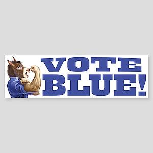Vote Blue Dem Donkey Bumper Sticker
