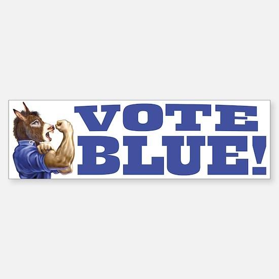 Vote Blue Dem Donkey Bumper Bumper Bumper Sticker