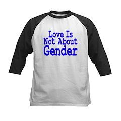 Love Not About Gender Kids Baseball Jersey