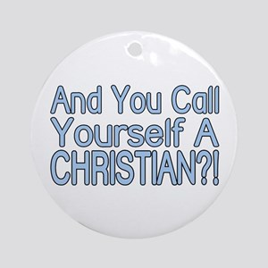 So Called Christian Ornament (Round)