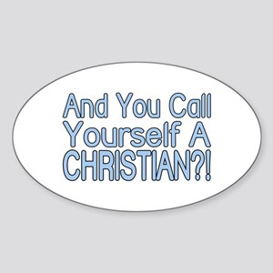 So Called Christian Oval Sticker