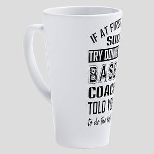 Baseball 17 oz Latte Mug