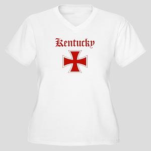 Kentucky (iron cross) Women's Plus Size V-Neck T-S