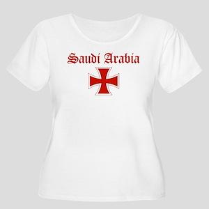 Saudi Arabia (iron cross) Women's Plus Size Scoop