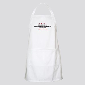 Loves Me in Colorado Springs BBQ Apron
