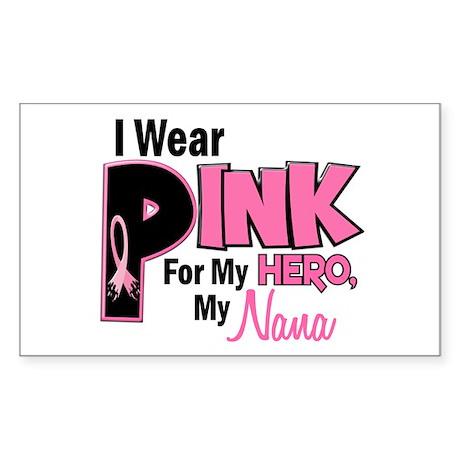 I Wear Pink For My Nana 19 Rectangle Sticker