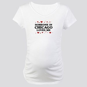 Loves Me in Chicago Maternity T-Shirt