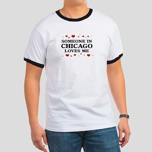 Loves Me in Chicago Ringer T