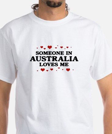 Loves Me in Australia White T-Shirt