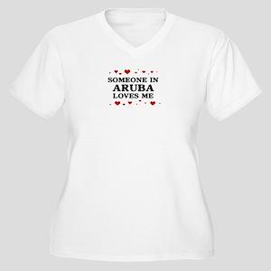 Loves Me in Aruba Women's Plus Size V-Neck T-Shirt