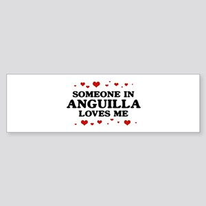 Loves Me in Anguilla Bumper Sticker
