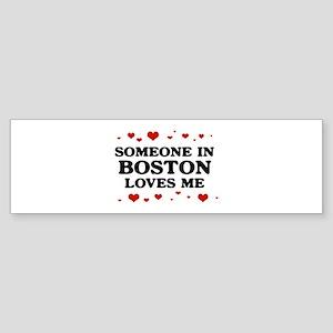 Loves Me in Boston Bumper Sticker