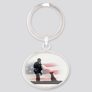 Soldier and shepard Keychains