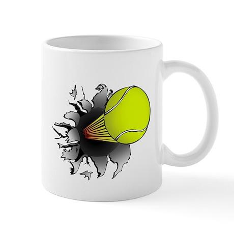 Shooting Tennis Ball Mug
