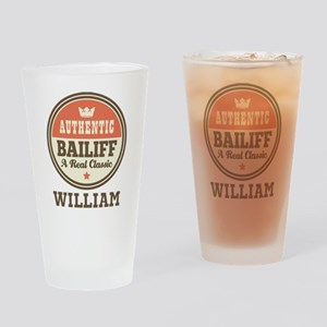 Personalized Bailiff Gift Drinking Glass