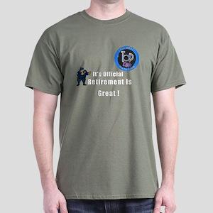 'Police Retirement Designs. Dark T-Shirt