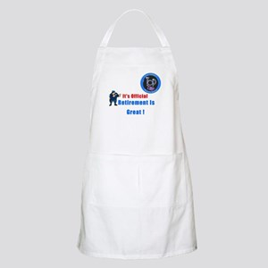 'Police Retirement Designs. BBQ Apron
