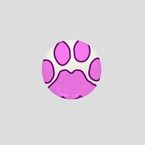Pink Paw Mini Button