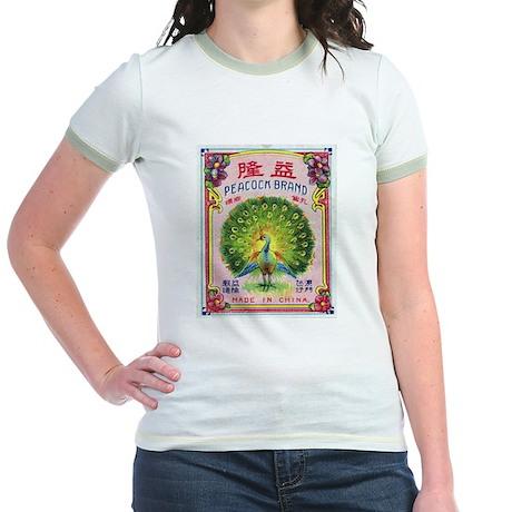 Peacock Fireworks Jr. Ringer T-Shirt