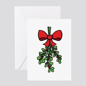 Christmas Mistletoe Greeting Card