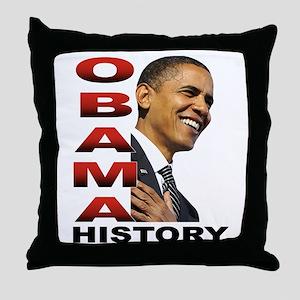 Obama History Throw Pillow
