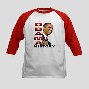 Obama History Kids Baseball Jersey