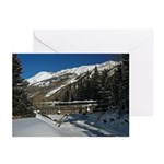 5x7 Note Cards (Pk of 10) Winter Red Mt Pass