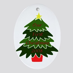 Our First Christmas Oval Ornament
