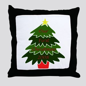Our First Christmas Throw Pillow