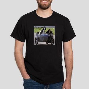Cow in Sidecar Dark T-Shirt