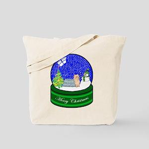 Snow Globe Yorkie Tote Bag